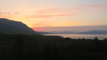 Sunset behind Nuolja